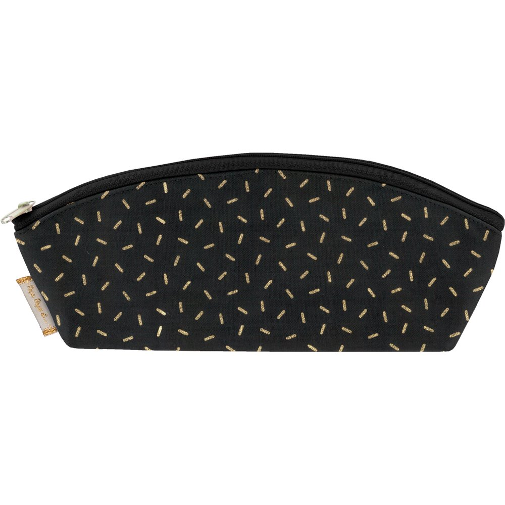 Pencil case golden straw