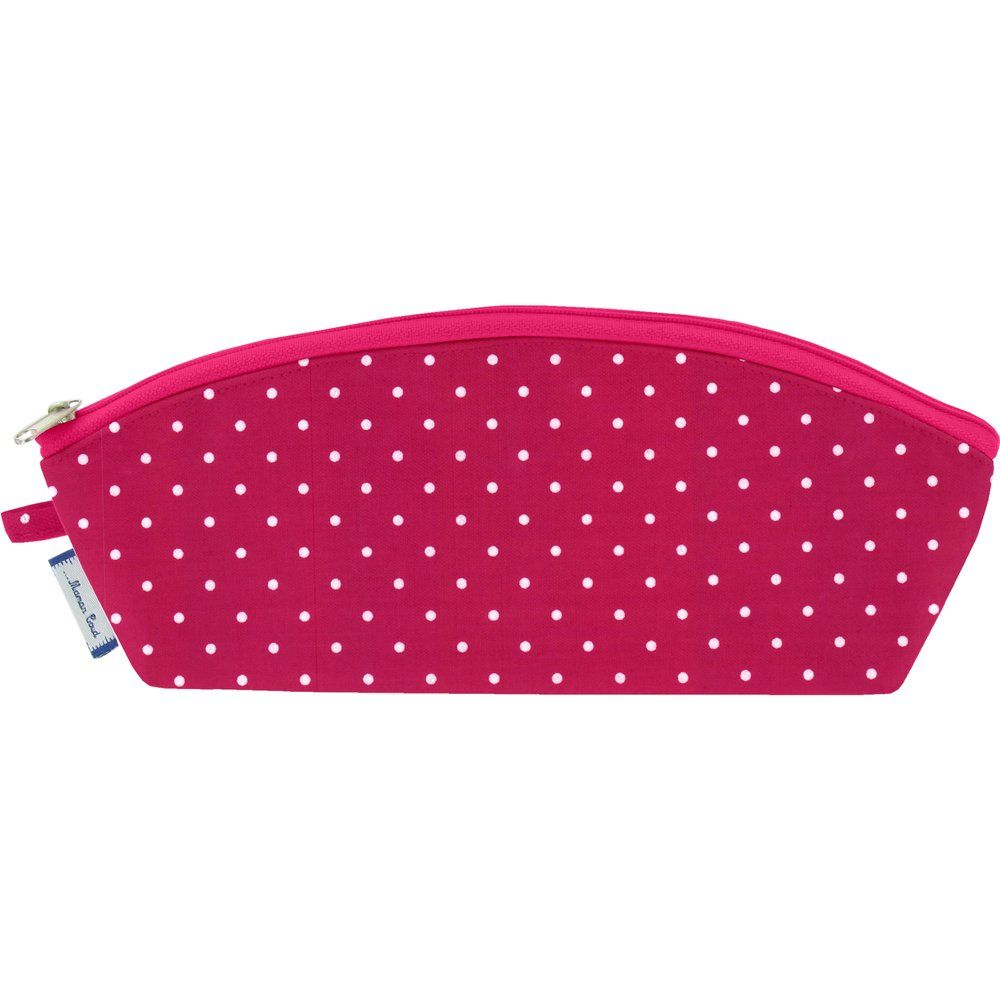 Pencil case fuschia spots