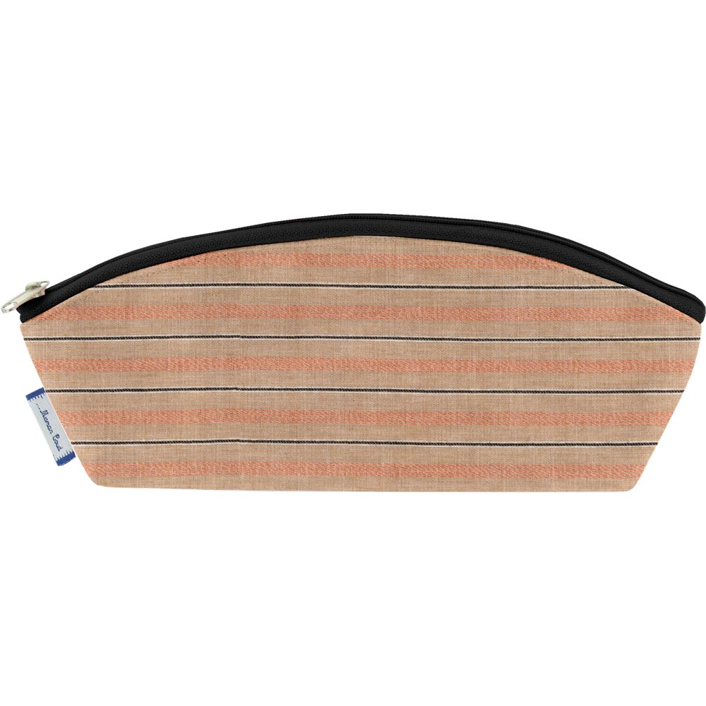 Pencil case bronze copper stripe