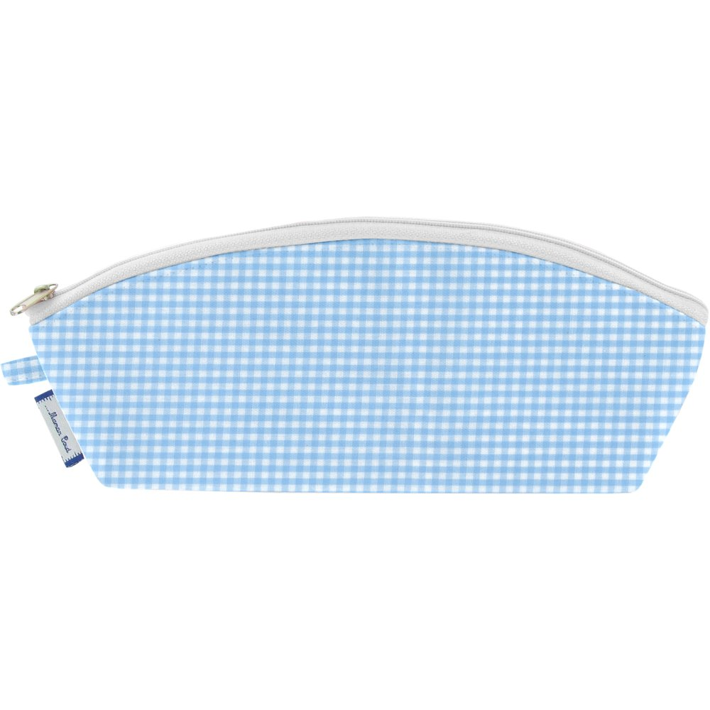 Pencil case sky blue gingham