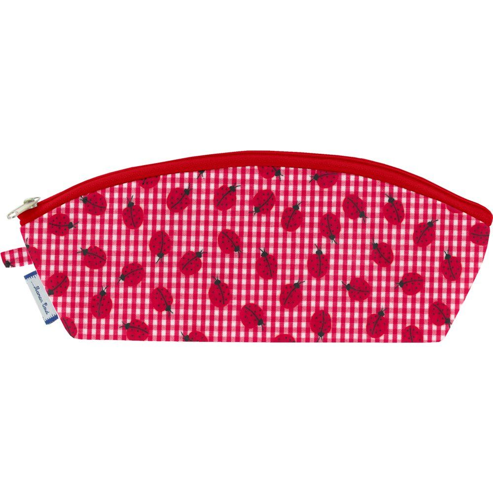 Pencil case ladybird gingham