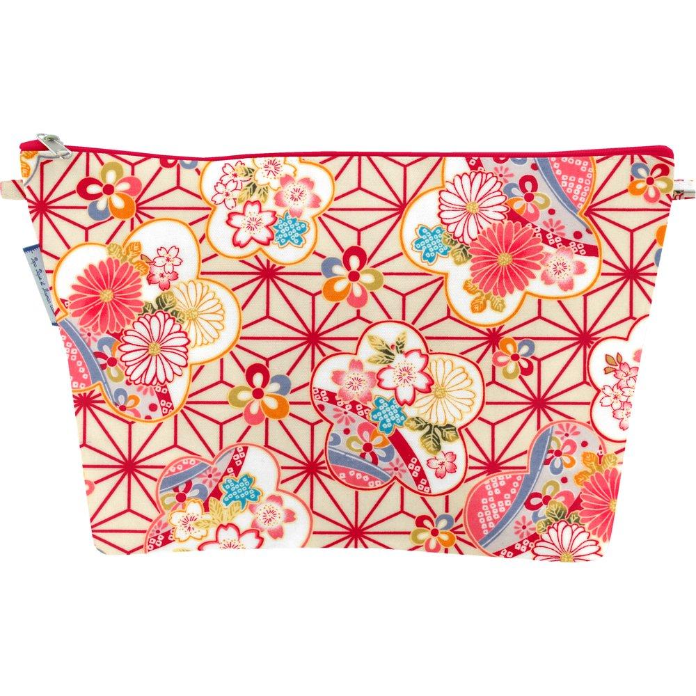 Trousse de toilette  origamis fleuris