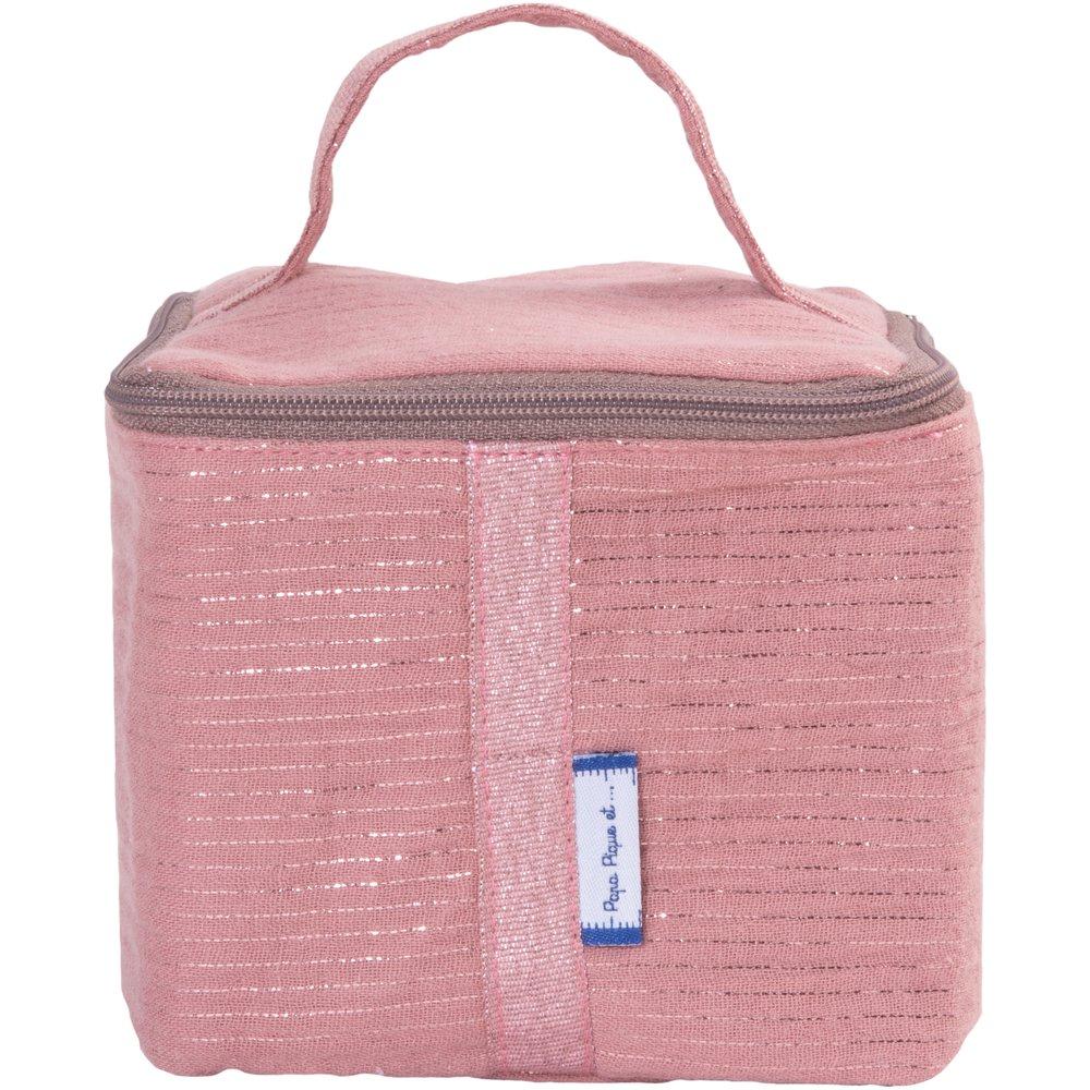 Small vanity dusty pink lurex gauze