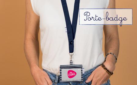 Porte-badge  Papa Pique et Maman Coud