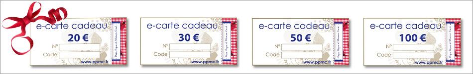 Offrez des e-cartes cadeaux