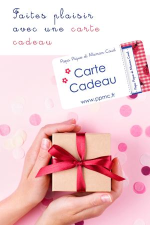 CARTE CADEAUX Papa Pique et Maman Coud
