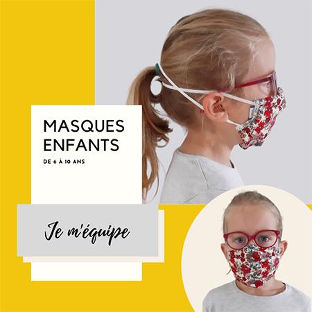 Masques enfants Papa Pique et Maman Coud