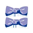 Petites barrettes clic-clacs noeuds