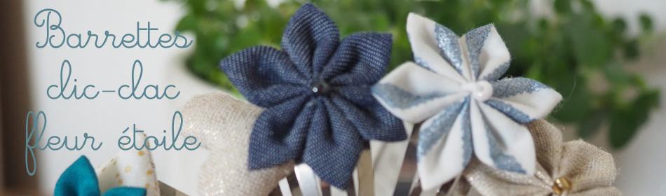 les barrettes clic-clac fleur étoile