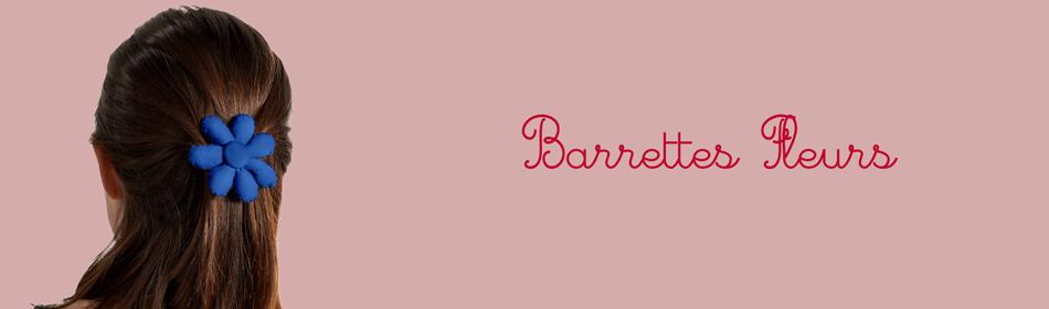 Barrette fleurs - Papa Pique et Maman Coud