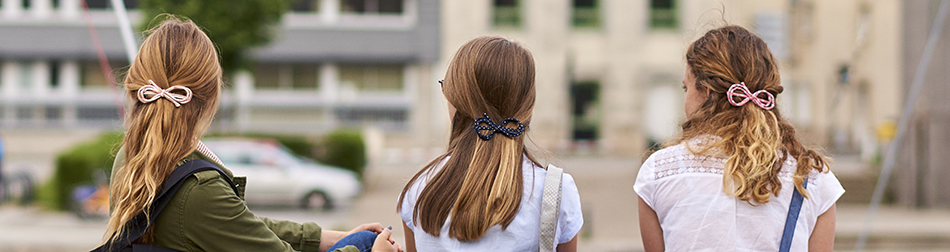 Hair clips in colored fabric for children and adults-ppmc