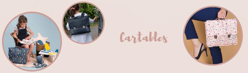 Les cartables colorés Papa Pique et Maman Coud aussi bien pour les femmes que pour les enfants