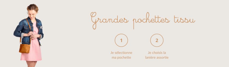 Grande pochette tissus - Papa Pique et Maman Coud