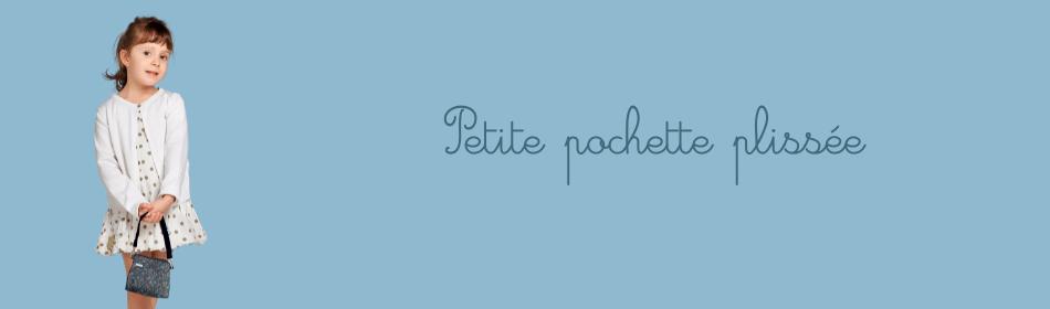Petite pochette plissée Papa Pique et Maman Coud, disponible dans un grand nombre de coloris
