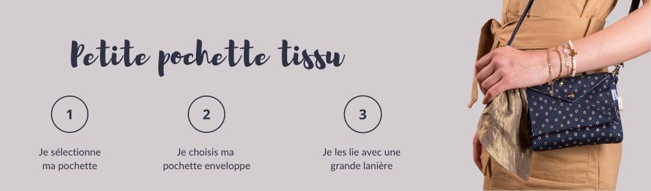 petite pochette coton - Papa Pique et Maman Coud