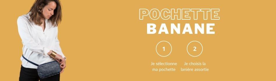 Pochette banane - papa Pique et maman Coud