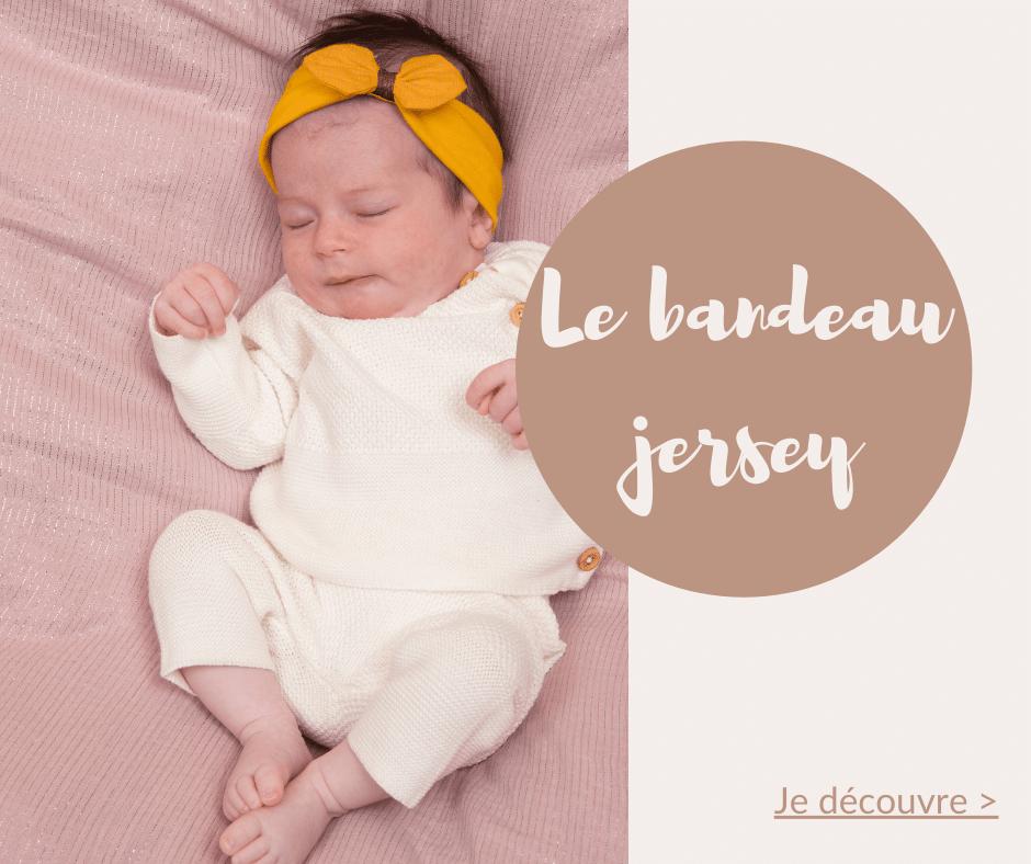 Le bandeau pour bébé en jersey PPMC est un cadeau parfait pour faire craquer futurs parents et nouveau-né