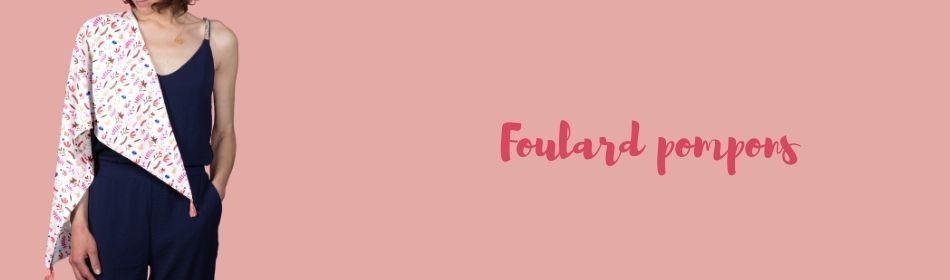 Foulard pompons - Papa Pique et Maman Coud