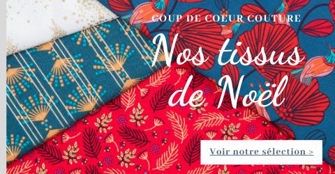 Tissus de Noël Papa Pique et Maman Coud