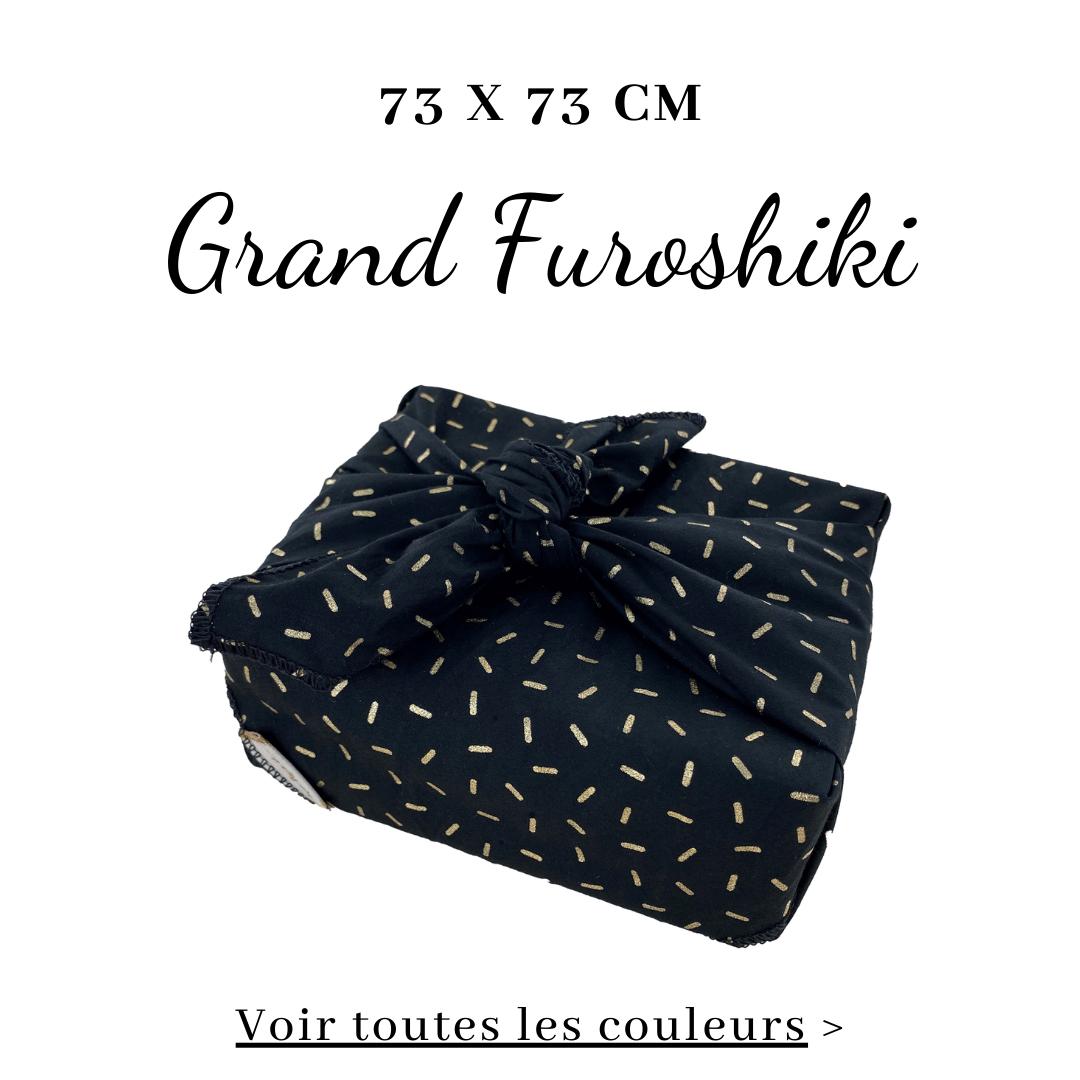 Grand Furoshiki 73 x 73 cm - Emballage Cadeau en Tissu Papa Pique et Maman Coud