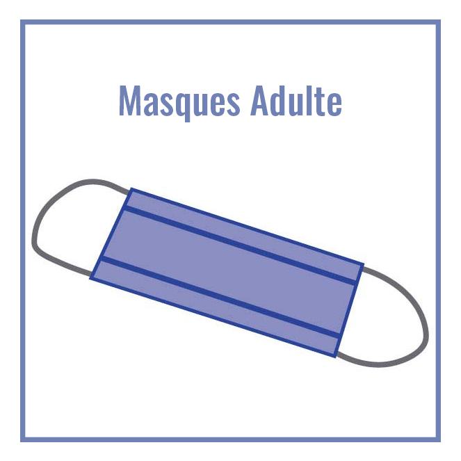 Masque tissu adulte PPMC - Modèle plus long (22 cm)