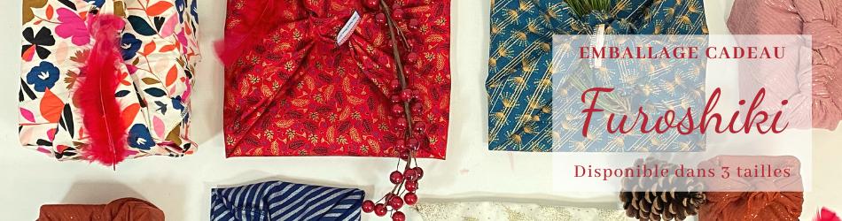 Furoshiki Papa Pique et Maman Coud - Emballage en tissu zéro déchet