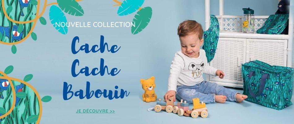 Nouvelle collection Cache cache Babouin Ardoise-Papa Pique et Maman Coud