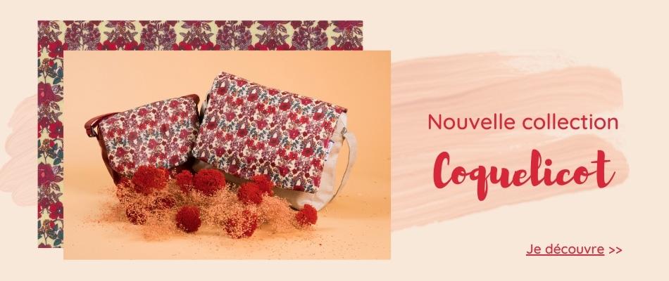 Nouvelle collection coquelicot- Papa Pique et Maman Coud